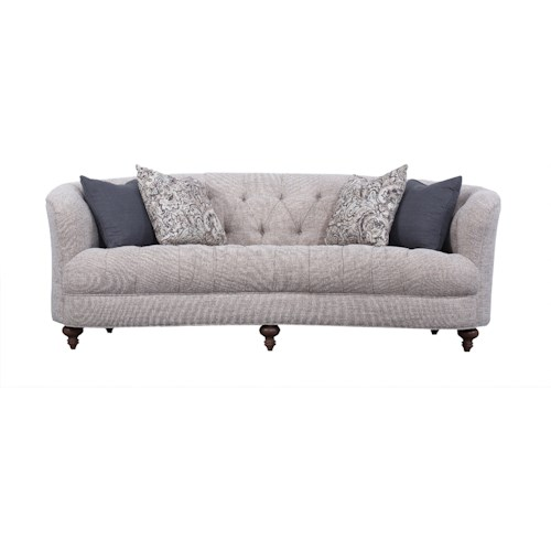 Magnussen Home Desseray Traditional Kidney Sofa with Tufting