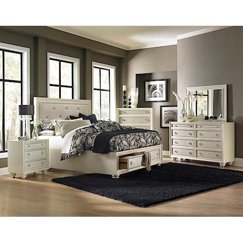 Magnussen Home Amelia 4-Piece King Storage Bedroom Set