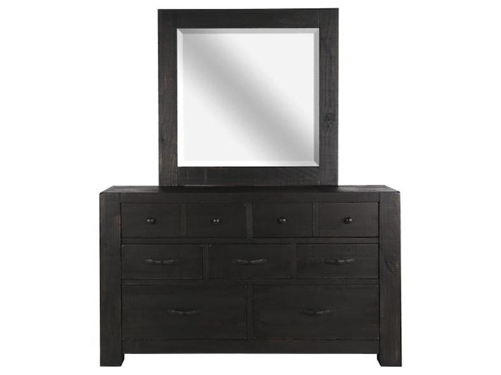 Magnussen Home Easton7 Drawer Dresser and Mirror
