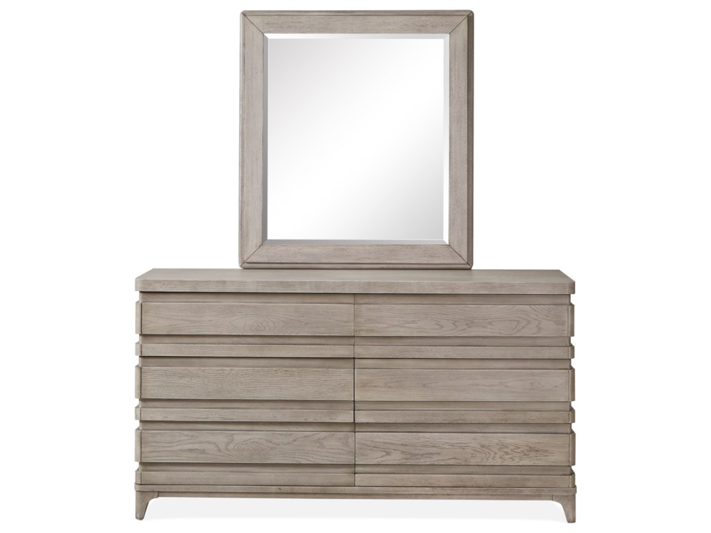 Magnussen Home PacificaDouble Drawer Dresser and Mirror Set
