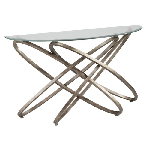 Magnussen Home Escala Modern Metal Ring Base Sofa Table