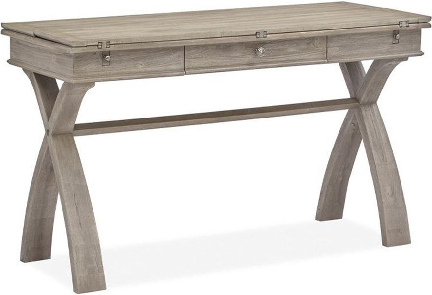 Magnussen Home Fairbanks Mat19047 Casual Console Table Dining Table With Flip Top Leaves Upper Room Home Furnishings Sofa Tables Consoles