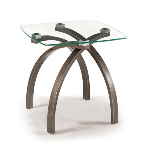 Magnussen Home Frisco Contemporary Square End Table