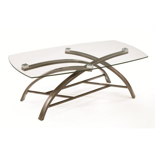 Magnussen Home Frisco Contemporary Rectangular Cocktail Table