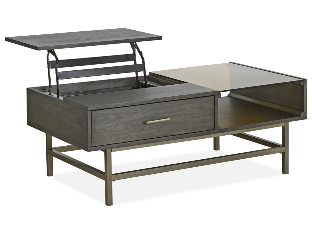 Magnussen Home Fulton MH MidCentury Modern Lift Top Cocktail Table - Mid century lift top coffee table