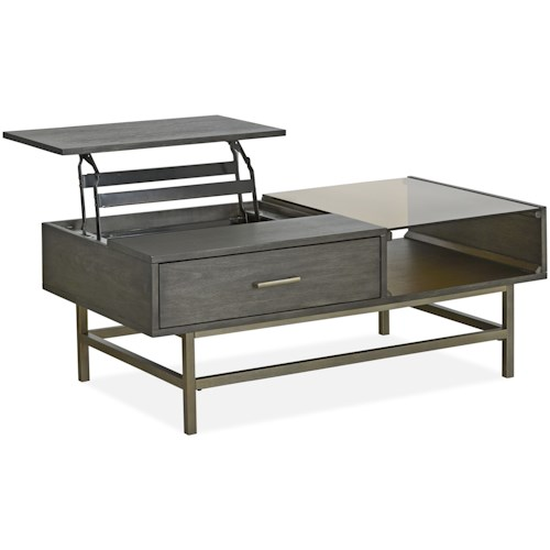 Magnussen Home Fulton MH Mid-Century Modern Lift Top Cocktail Table