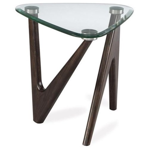 Magnussen Home Garvin Pie End Table with Glass Top