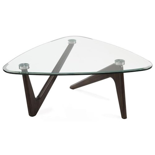 Magnussen Home Garvin Pie Cocktail Table with Glass Top