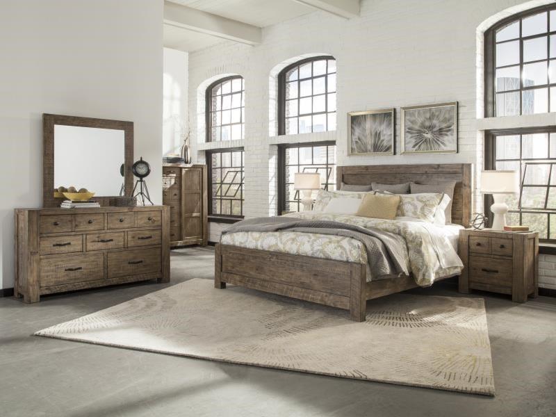 Gibson 7 Drawer Dresser & Mirror with Wood Frame - Ruby-Gordon ...