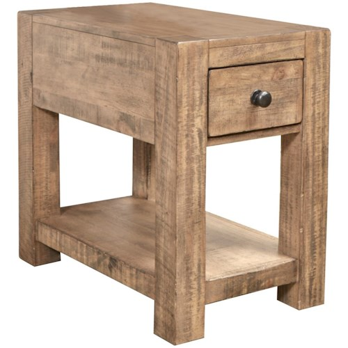 Magnussen Home Griffith Chairside End Table with Drawer