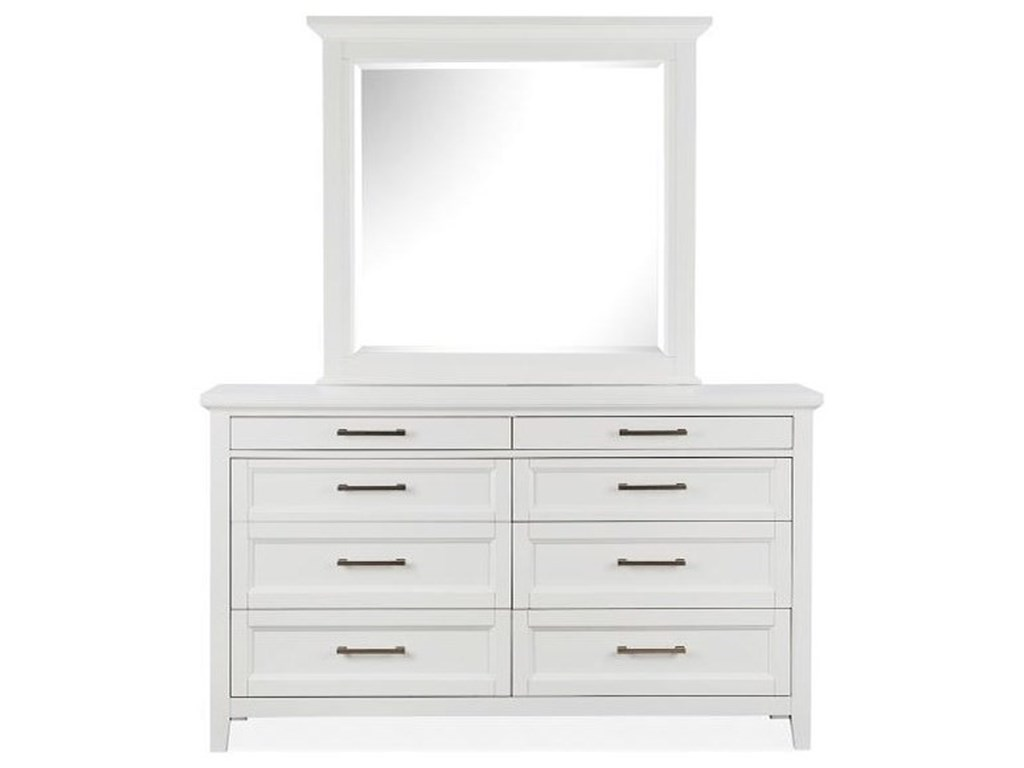 Magnussen Home Hadley GroveDouble Drawer Dresser +Mirror Set