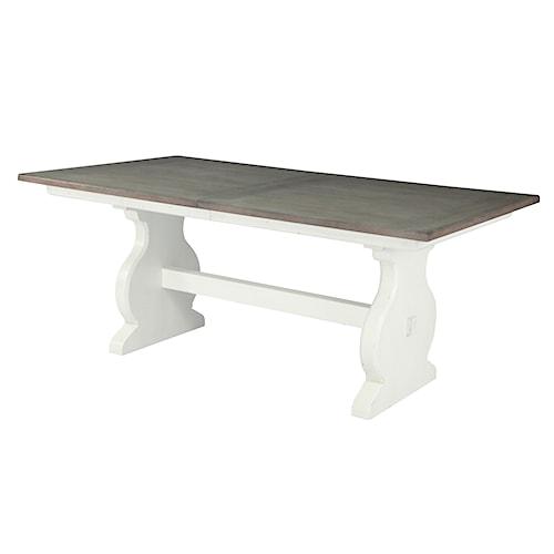 Belfort Select Magnolia Park Cottage Coastal Rectangular Dining Table with Extension Leaf
