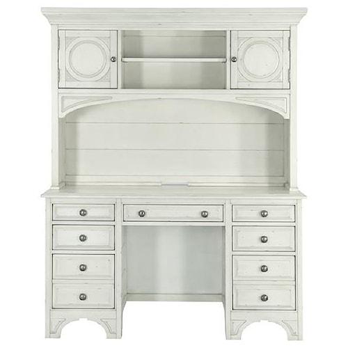 Magnussen Home Belinda 7 Drawer Desk and Hutch with Adjustable Shelves
