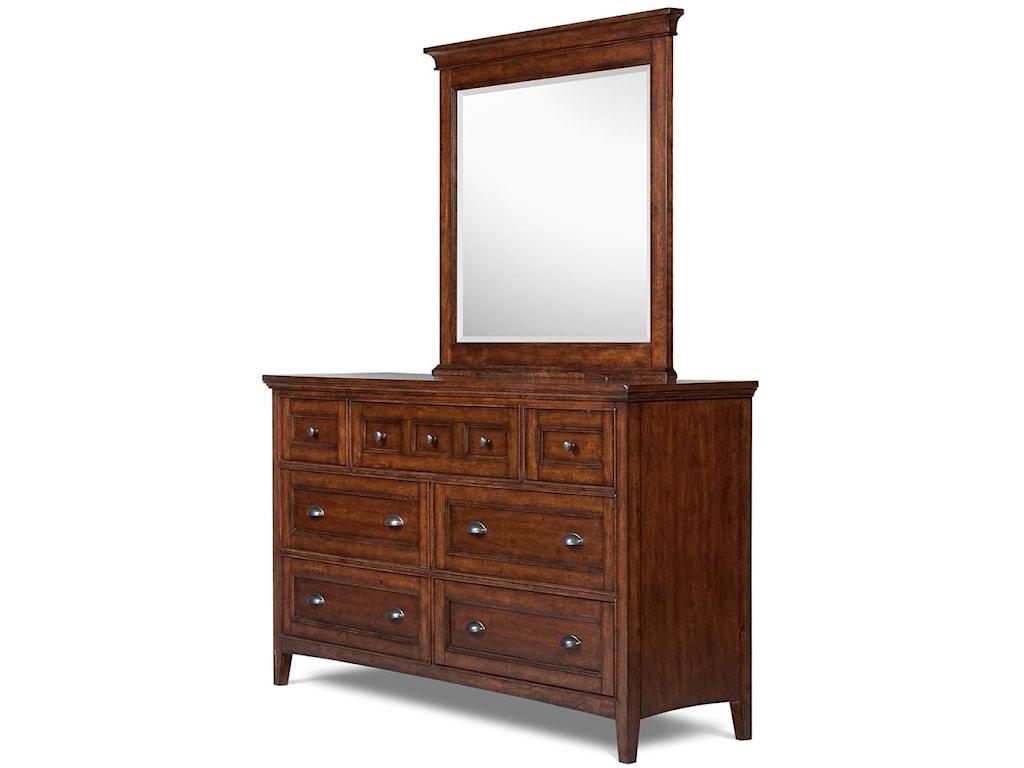 Magnussen Home HarrisonDouble Dresser and Landscape Mirror