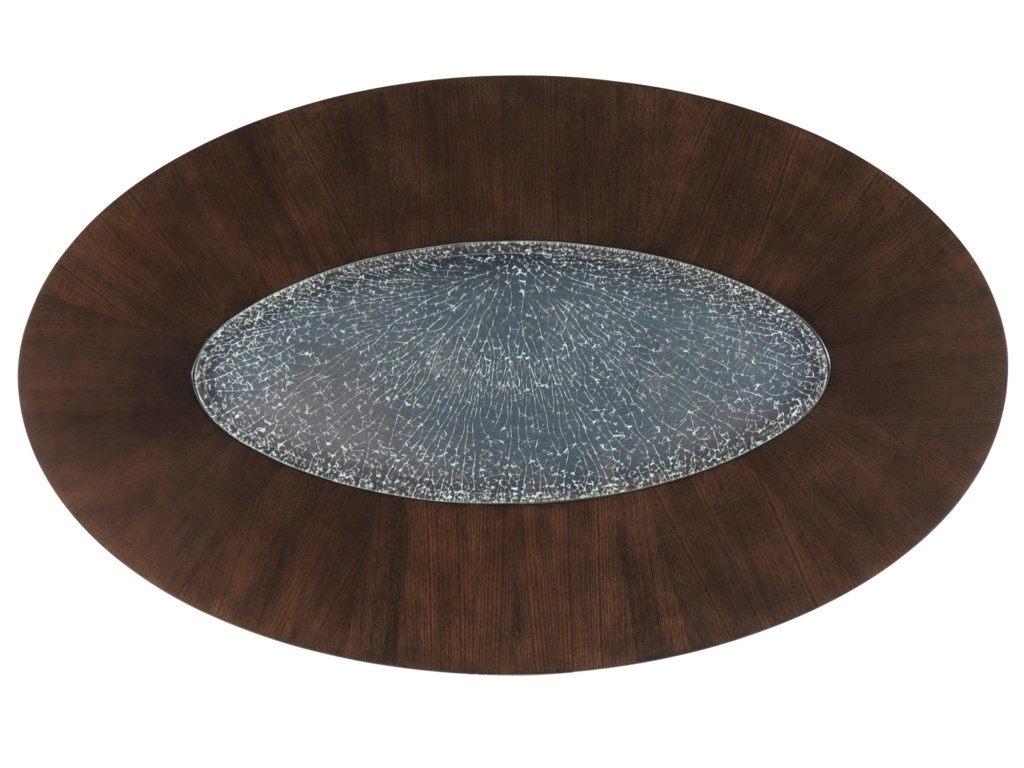 Oval-Shaped Top with Glass Inset
