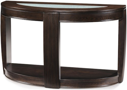 Magnussen Home Ino Demilune Console Table w/ Glass Insert