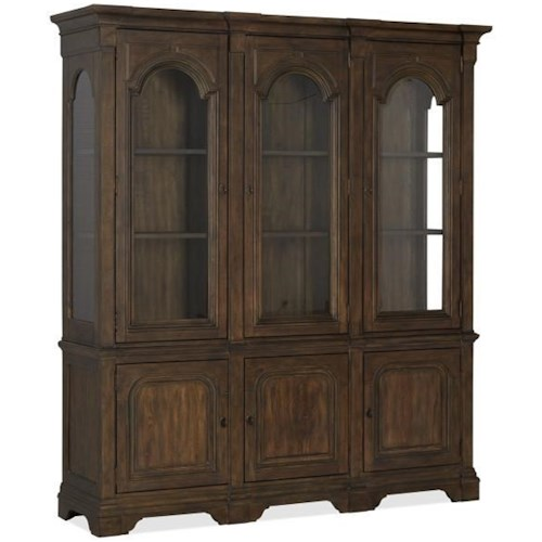 Magnussen Home Jefferson Market Traditional China Cabinet with Built-in Lights