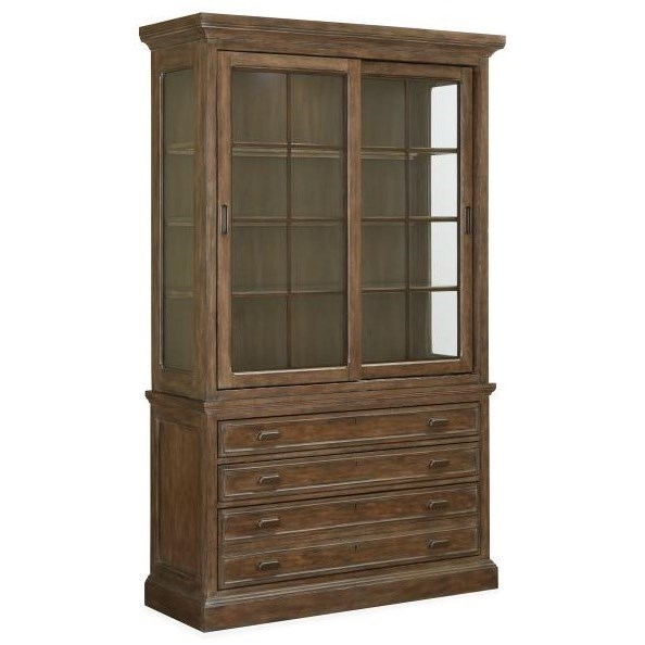 Magnussen Home Jefferson Market Traditional Sliding Door China Cabinet