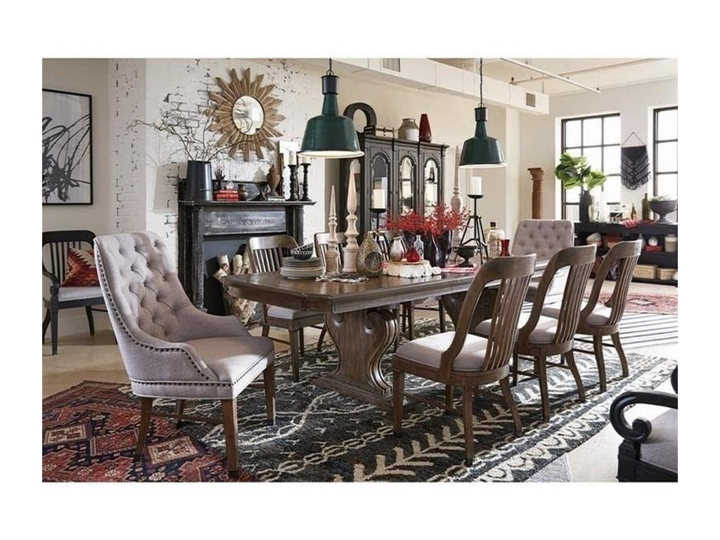 Magnussen Home Jefferson MarketDouble Pedestal Dining Table