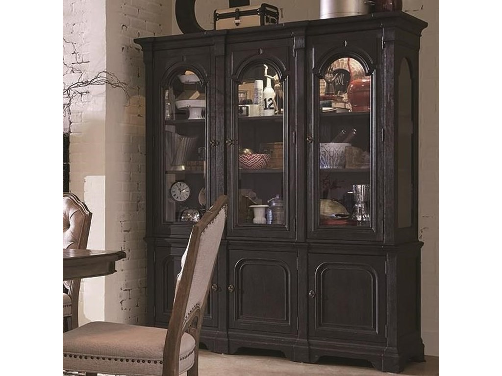 Hudson Square Traditional China Cabinet With Built In Lights By Magnussen Home