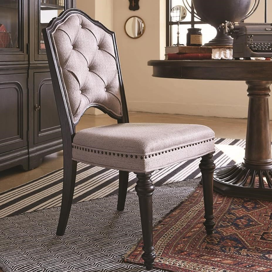 Magnussen Home Hudson Square Dining Side Chair With Upholstered Seat And  Back