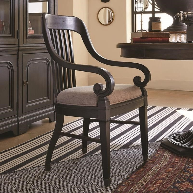 Magnussen Home Hudson Square Dining Arm Chair With An Upholstered Seat