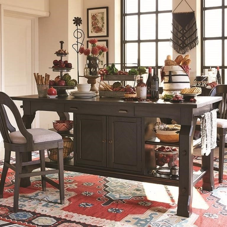 Magnussen Home Hudson SquareRectangular Counter Table ...