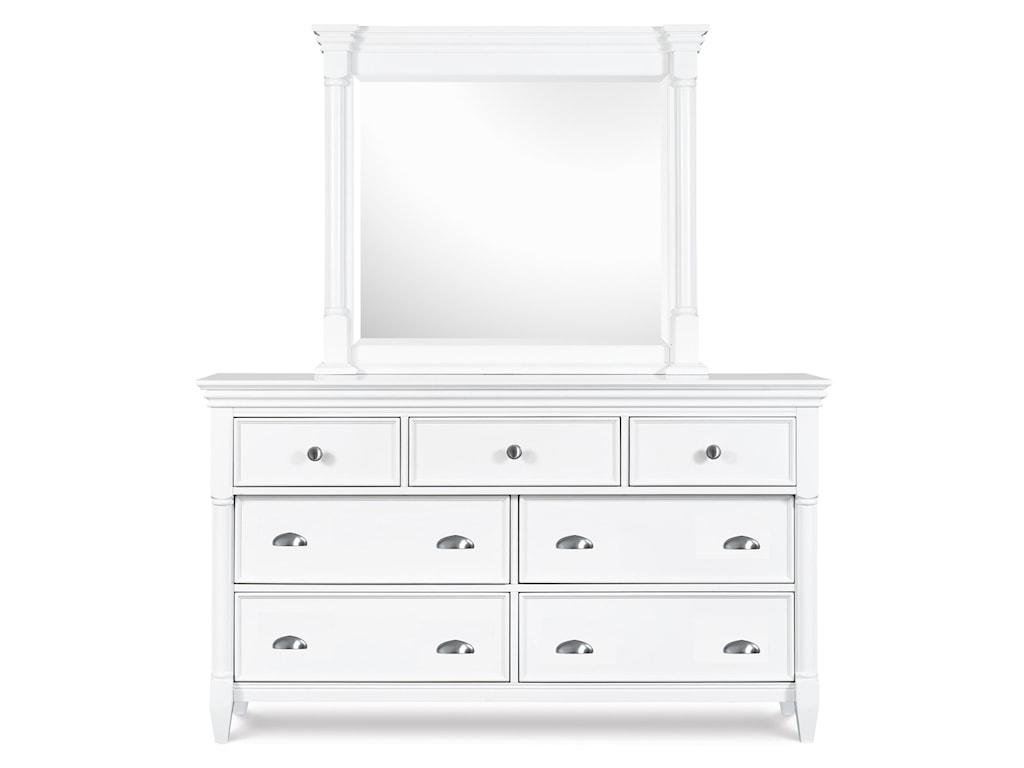 Magnussen Home Kasey Dresser & Mirror