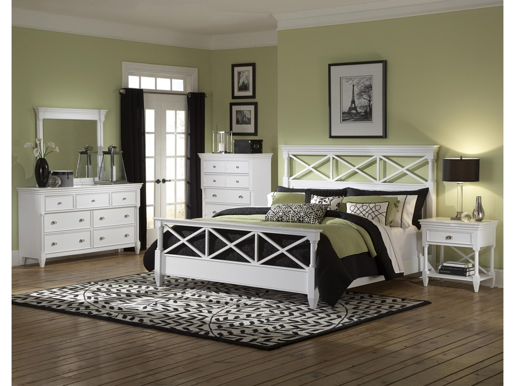 Shown with Mirror, Drawer Chest, Panel Bed & Nightstand