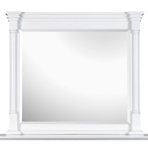 Magnussen Home Kasey  Landscape Mirror with White Frame