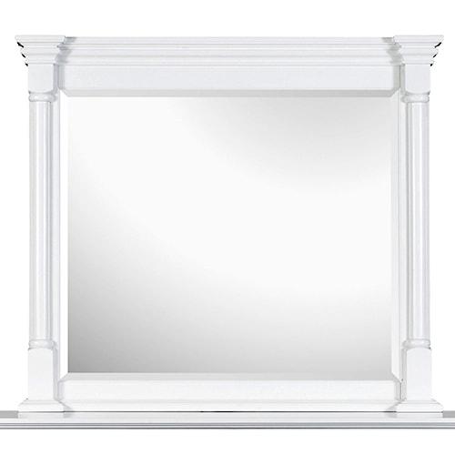 Magnussen Home Kasey  Landscape Mirror with White Frame