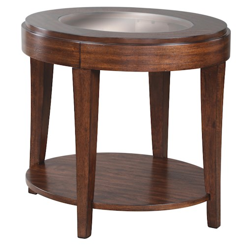Magnussen Home Keaton Oval End Table With Shelf
