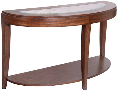 Magnussen Home Keaton Demilune Sofa Table With Shelf
