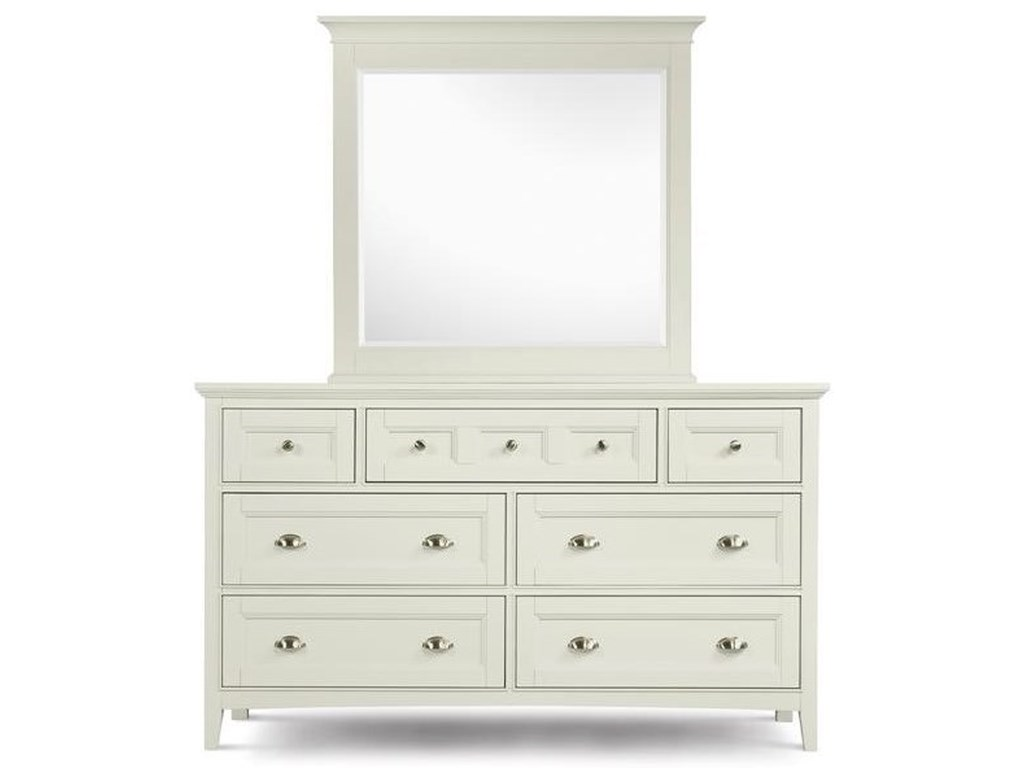 Magnussen Home KentwoodDouble Dresser and Landscape Mirror