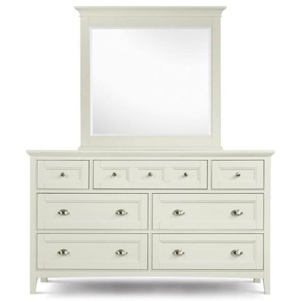 Magnussen Home KentwoodDouble Dresser and Landscape Mirror