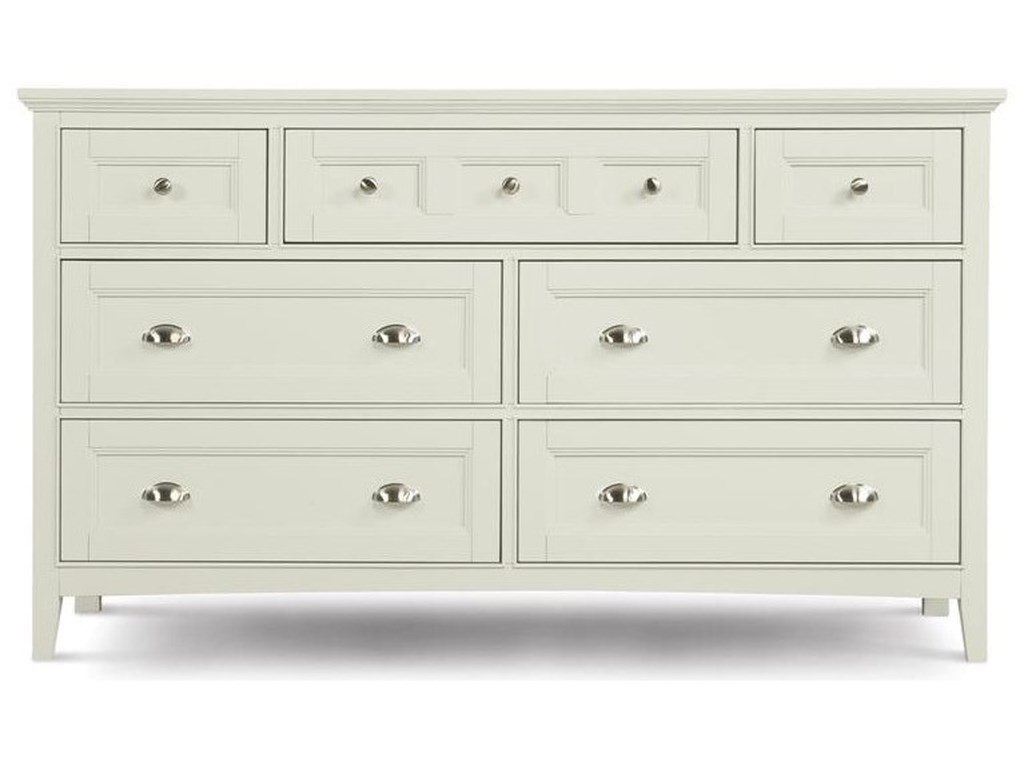 Magnussen Home Kentwood Double Dresser With 7 Drawers And Drop Down