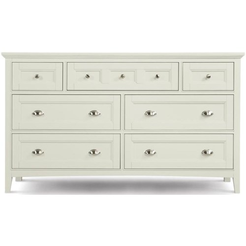 Magnussen Home Kentwood Double Dresser With 7 Drawers and Drop Down Front On Top Center
