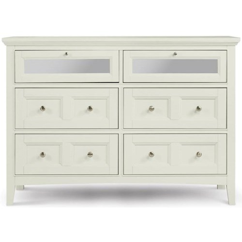 Magnussen Home Kentwood Media Chest With 4 Drawers and 2 Drawers With Drop Down Glass Fronts