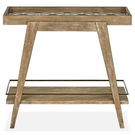 Magnussen Home Bluff Heights Rustic Dining Bar Cart With Decorative New Adcock Furniture Athens Ga Decoration