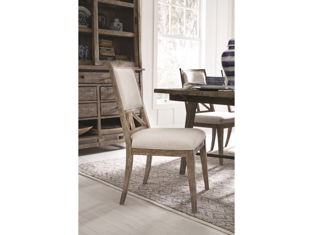 Magnussen Home Bluff HeightsDining Side Chair with Upholstery