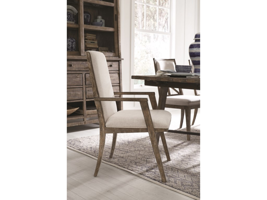 Magnussen Home Fully Upholstered Dining Arm Chair