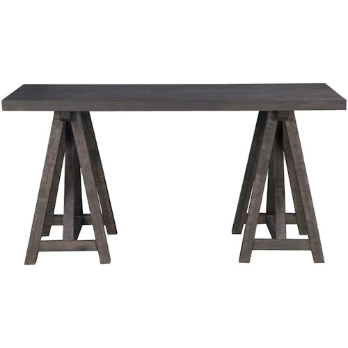 Magnussen Home Sutton Place Rustic Desk with Wood Top