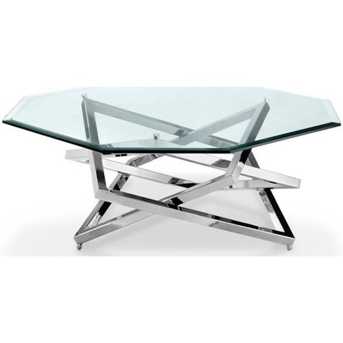 Magnussen Home Lenox Square Contemporary Octagonal Cocktail Table