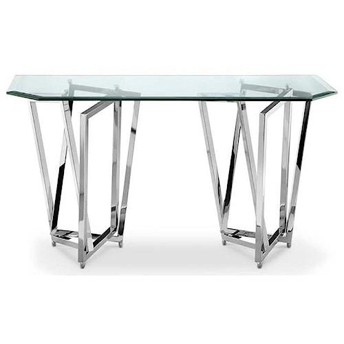 Magnussen Home Lenox Square Contemporary Rectangular Sofa Table