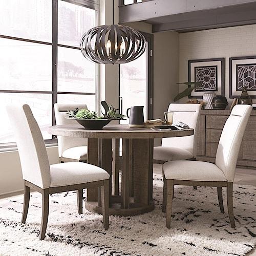 Magnussen Home Granada Hills Contemporary Rustic 5 Piece Dining Set
