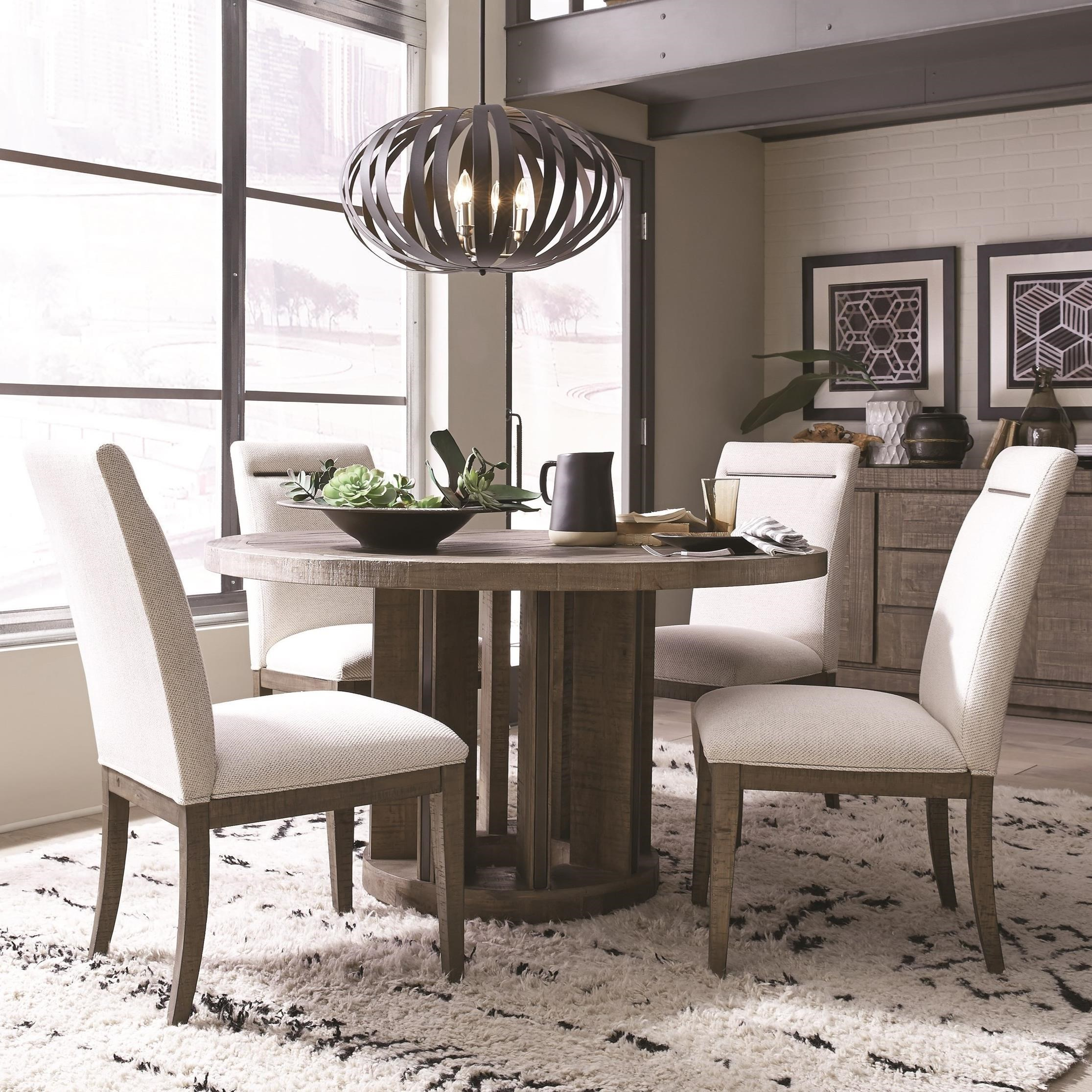 Granada Hills Contemporary Rustic 5 Piece Dining Set By Magnussen Home
