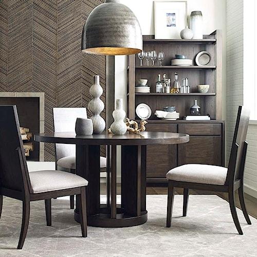 Magnussen Home MacArthur Terrace  Contemporary Rustic 5 Piece Dining Set