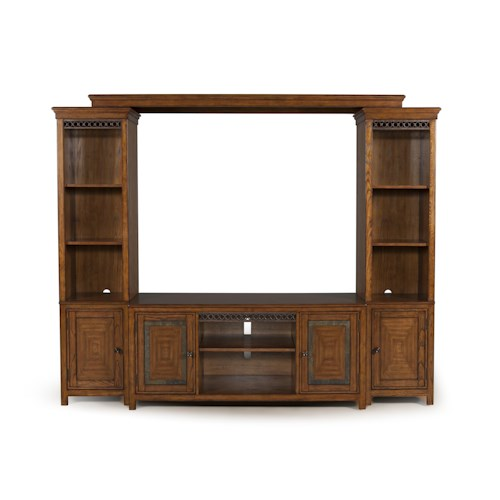 Magnussen Home Madison Four Piece Entertainment Wall With