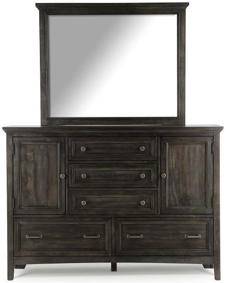 Magnussen Home Mill River Traditional Dresser and Mirror Set