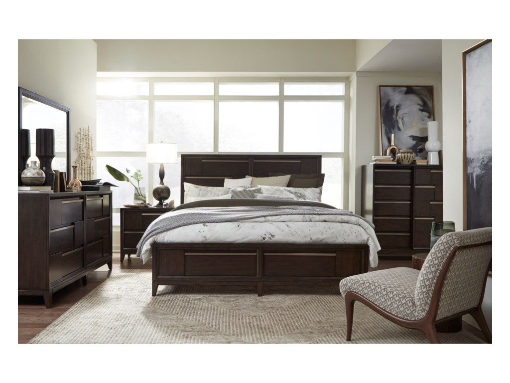 Magnussen Home Modern GeometryQueen Bedroom Group